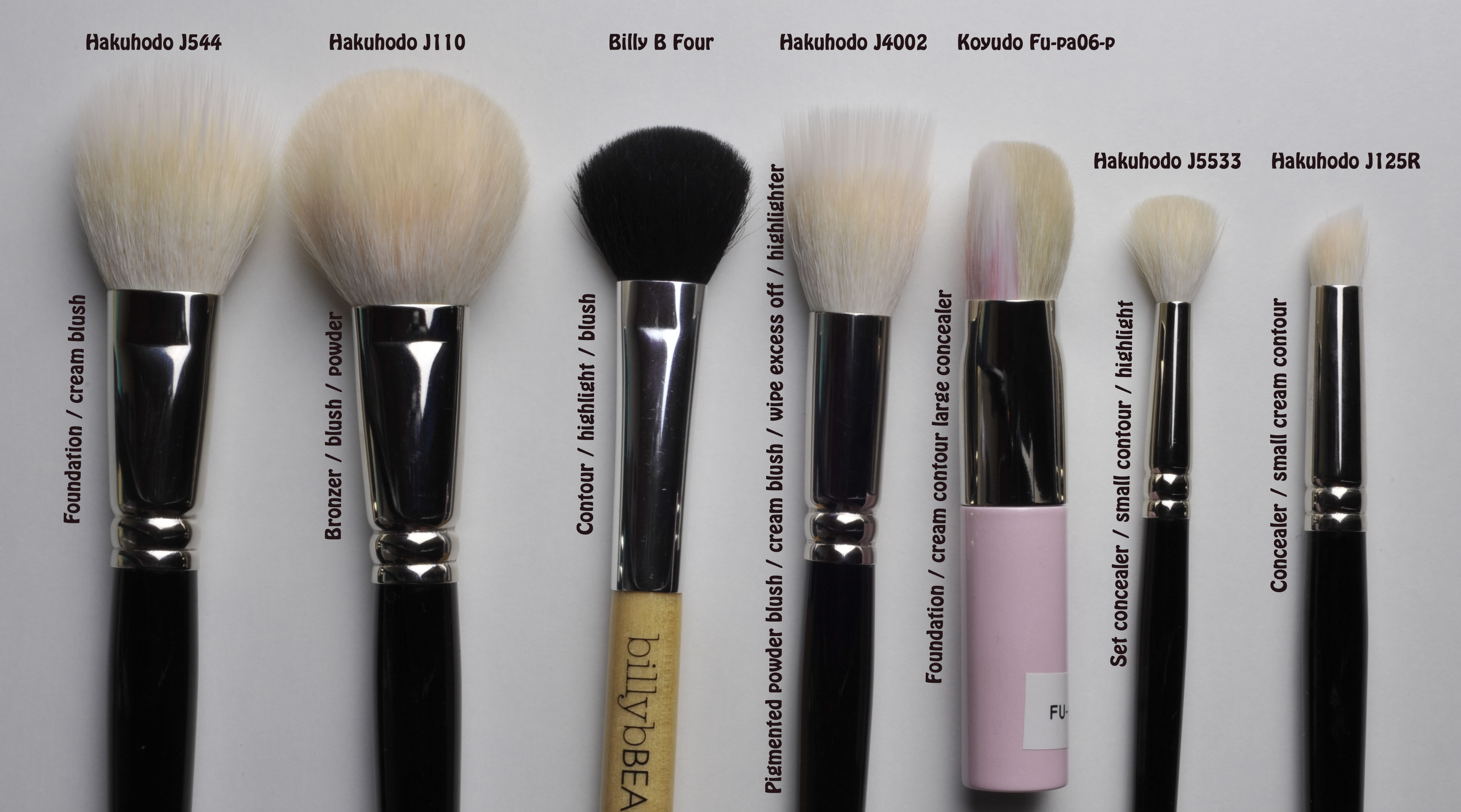 Face Brush Guidelines Sweet Makeup