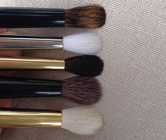 Crease brushes pressed down TF 13 - PD Sheer Crease - Haku S146 and J146 - Kiwami